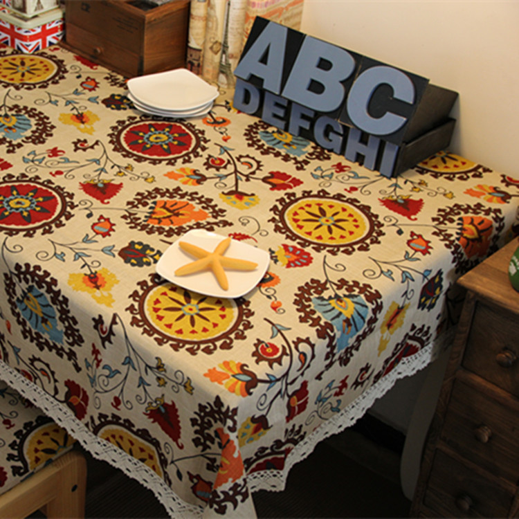 60CM*60CM Mediterranean style Tablecloths Table Cloths Mats Cover Fabric Linens Kitchen Dining Bar Accessories Supplies Products(China (Mainland))