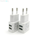 2pcs = 1pc 5V 2A white Dual USB EU Plug Wall Charger +1pc micro USB cable for Samsung galaxy S3 I9300 note 3 note4 mobile phone