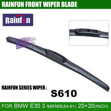 RAINFUN 20+20 inch car wiper blade for 1984-1991 BMW 3 SERIES, such as BMW 3 SERIES E30 316/318/320/323/324/325/M3, 2 pcs a lot