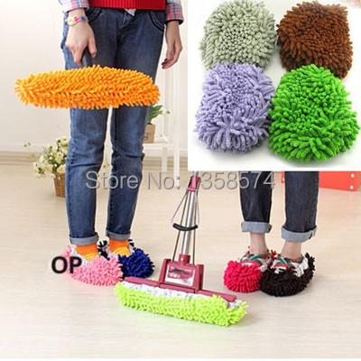 Free Shipping 10pcs x Multifunction Mop House Bathroom Floor Lazy Dust Cleaner Slipper Shoes Cover DS7qr(China (Mainland))