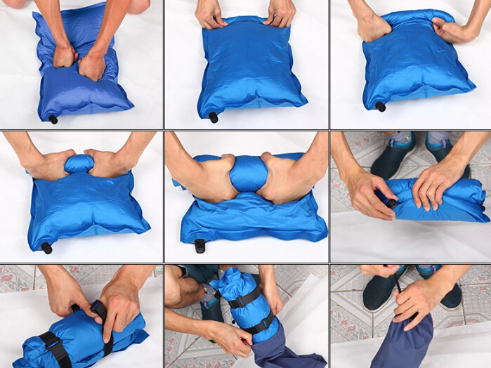 Outdoor / automatic inflation / pillow / travel pillow / Field Portable / nap / Camping Pillow / Inflatable pillow(China (Mainland))