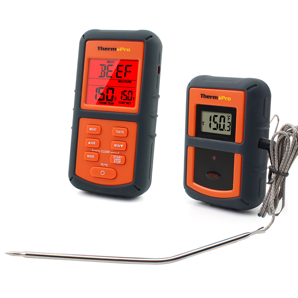 thermopro tp 07 300 feet range wireless thermometer remote