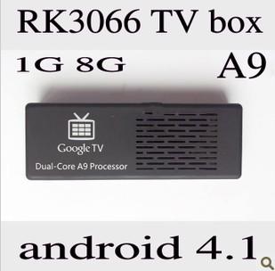 1080P Dual-core Android 4.1 TV Dongle Mini PC 1Go DRR3 8Go Nand Flash(China (Mainland))