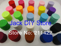 25colors 1000pcs/lot 100pcs/color/bag 25mm Colorful Felt Pads Circle for you DIY Free shipping YOU PICK 10 COLORS