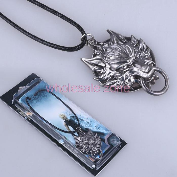 WZA5281 20pcs/lot  Final Fantasy Wolf Logo Necklace new pendant necklace for men women lovers(China (Mainland))