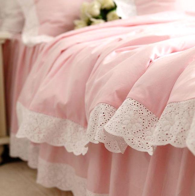 Как сшить постельное белье с кружевами 47