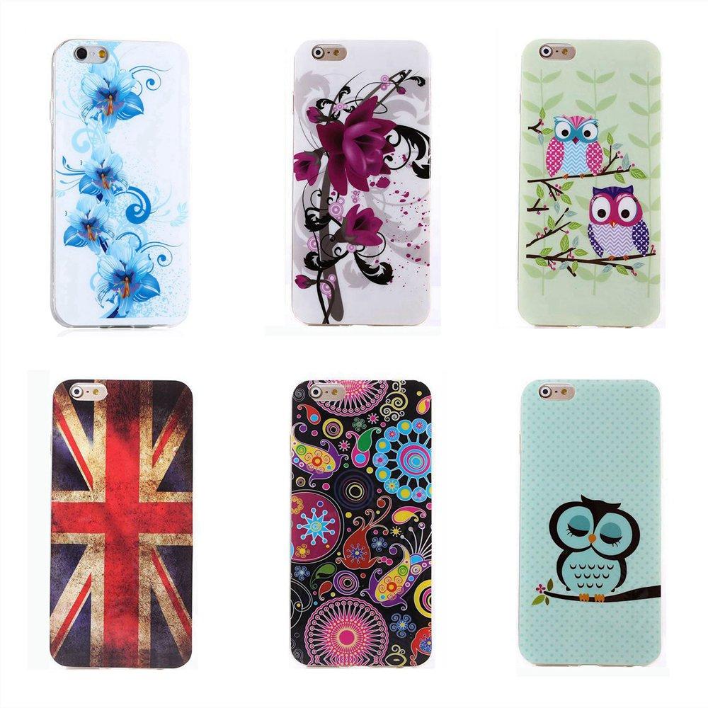 Cute Fantasy Polka Dots Sleeping Owl Zebra Flower USA UK Flag IMD TPU Silicone Phone Case 4.7 Apple iPhone 6 6s Cover Skin  -  TATUKE Store store