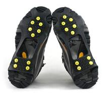 Hot Sale 10 Studs Anti-Skid Snow Ice Climbing Shoe Spikes Grips Crampons Cleats Overshoes(China (Mainland))