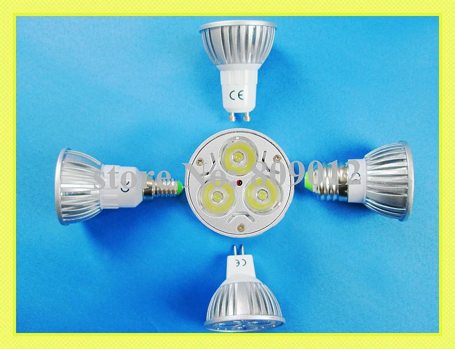 LED spotlight LED spot light 3W LED bulb light lamp light cup E14 / E27 / GU10 / GU5.3(MR16) 240lm AC85-265V free shipping(China (Mainland))