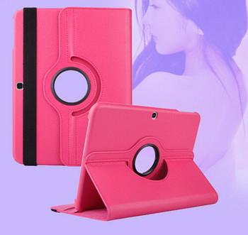360 Degree Swivel Rotating Smart Case For Samsung Galaxy Tab 3 10.1 Inch P5200 P5210 P5220 Stand Cover PU Leather Tablet cases