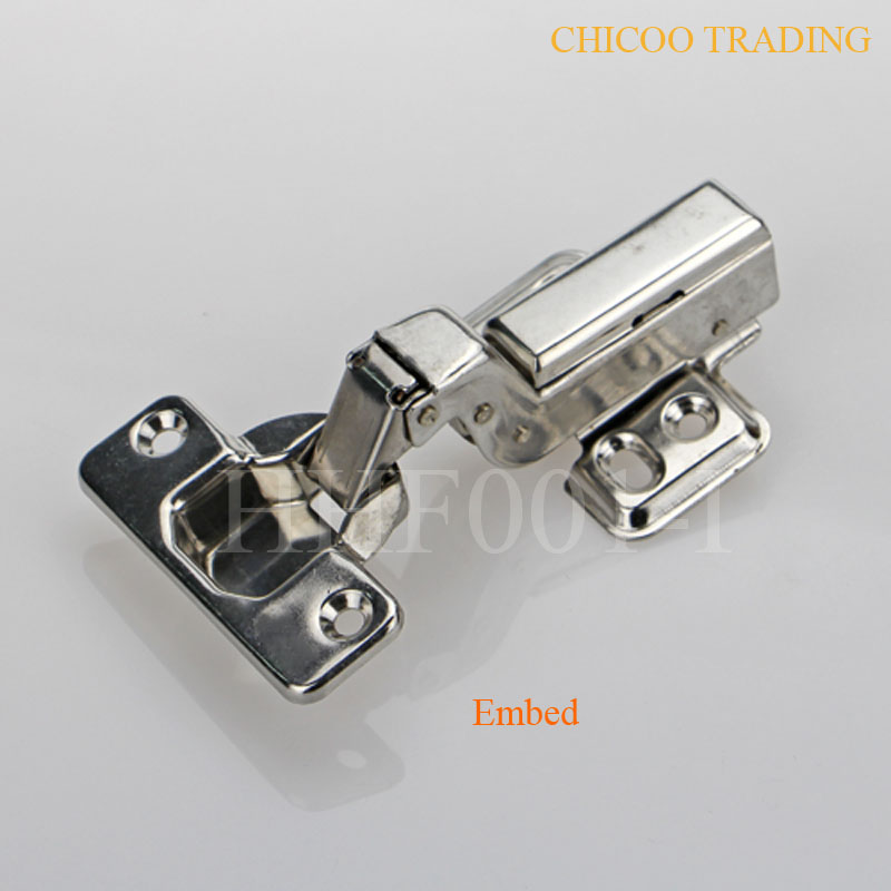 Stainless steel 304 Embed Hydraulic satin nickel kitchen cabinet furniture inset hinges(China (Mainland))