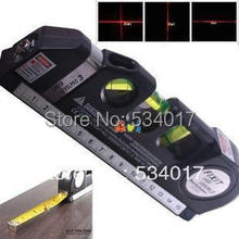 Genuine Laser Level Wire Infrared Cross Line Laser Rulerl Tape Measure 2.5 Meter Aluminum Seat Cross Line Device(China (Mainland))