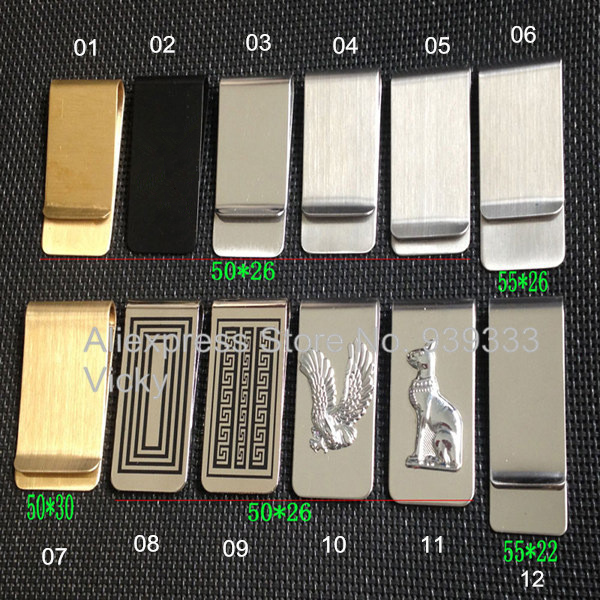 China steel money clip manufacturer for best value metal money clip wallet selection, stainless steel or solid brass material,(China (Mainland))