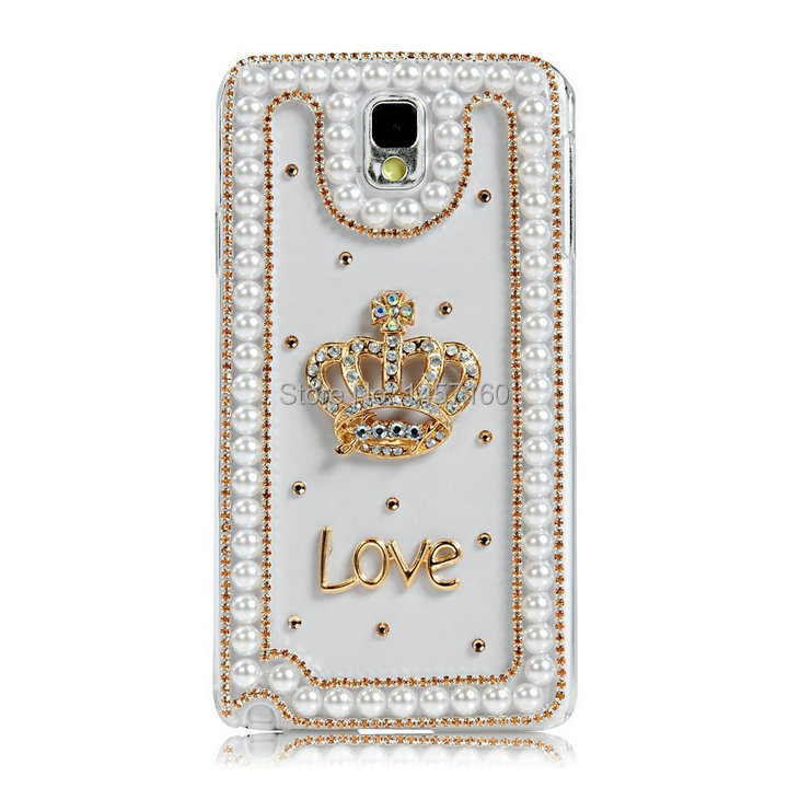 Free Shipping! Customize Clear Pearls PC Phone Case for Samasung S3/S4/S5/S4 Mini A3/A5 Cover/Skins for Galaxy I9300 I9500 I9600(China (Mainland))