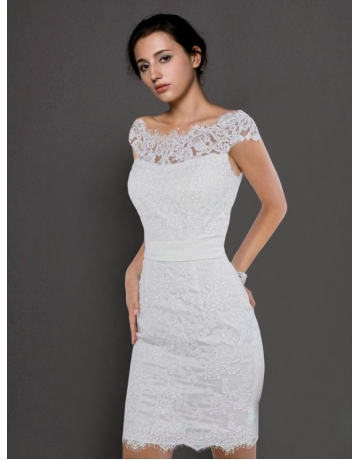 Elegant Short Wedding Dress - Ocodea.com