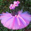 Colorful Girl s Tutu Skirts Infant Baby Layers Handmade Fluffy Ballet Tutus Pettiskirts with Dots Ribbon