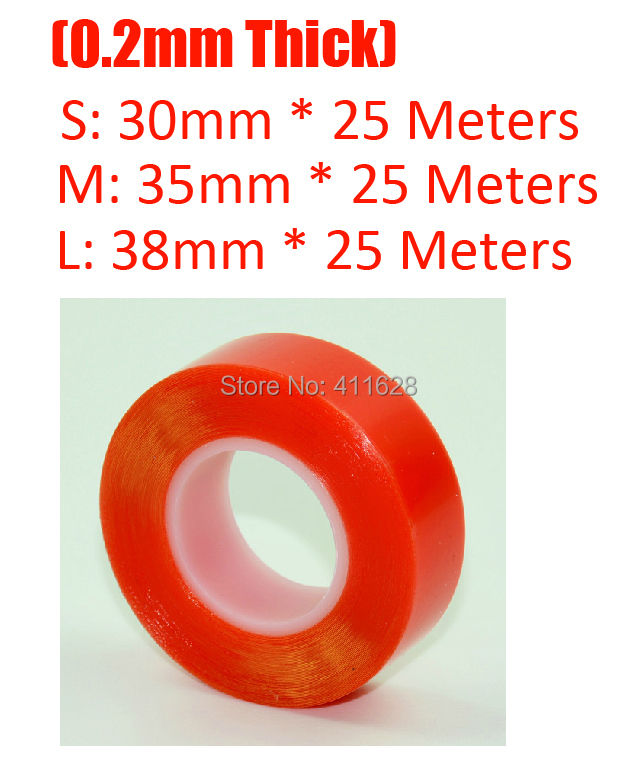 1x (0.2mm Thick) 30mm (or 35mm/38mm) High Adhesive Clear PET Tape for Digital Camera Lens, Cover, Memory Card, Battery Fasten<br><br>Aliexpress