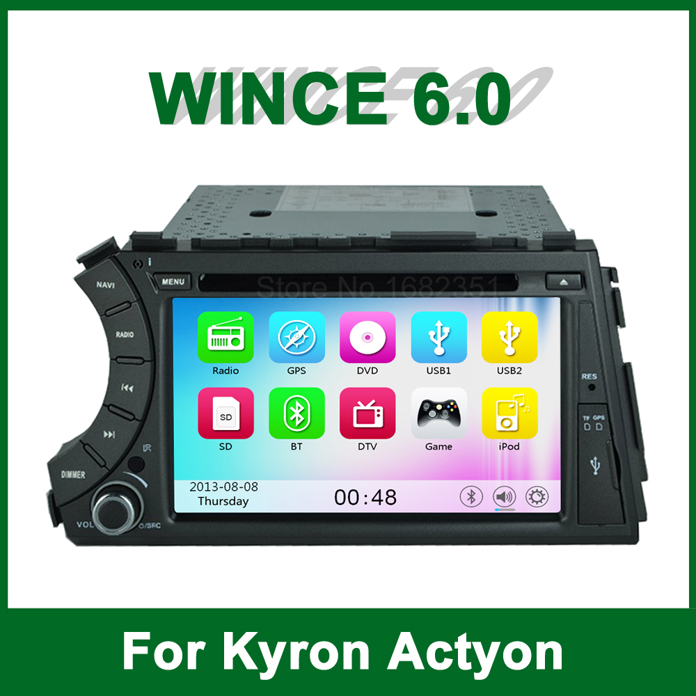 Car DVD Player GPS for SsangYong Kyron Actyon 2006 2007 2008 2009 2010 2011 2012 with Radio BT support Wifi Ipod 3G(China (Mainland))
