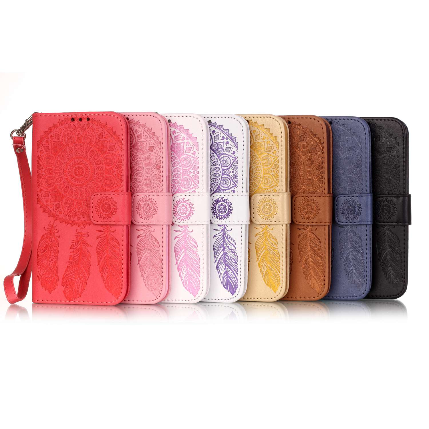 For LG G5 Case For LG K7 Cover Embossed Wind Chimes Wallet Flip Covers Mobile Phone Accessories Fundas Coque Leather BookCase(China (Mainland))