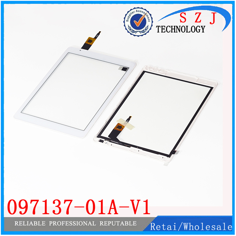 "New 9.7"" inch For Teclast X98 air 3G P98 3G 097137-01A-V1 Capacitive Touch screen panel Glass Sensor Free Shipping + with frame(China (Mainland))"