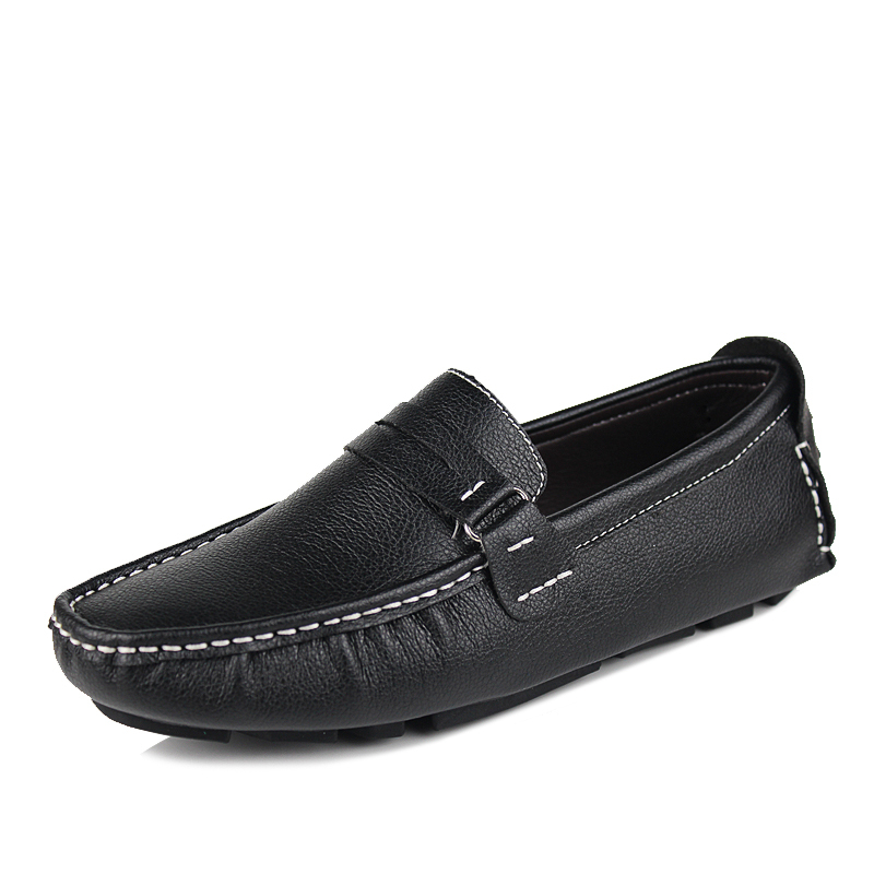 2013 New Best Quality Genuine Leather Men Flats Casual