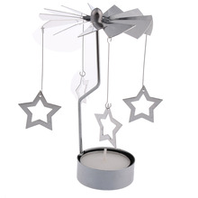 Romantic Candle Holders Revolving Door Windmill Rotation Candlestick Candleholder Candle Tea Light Holder Holiday Wholesales(China (Mainland))