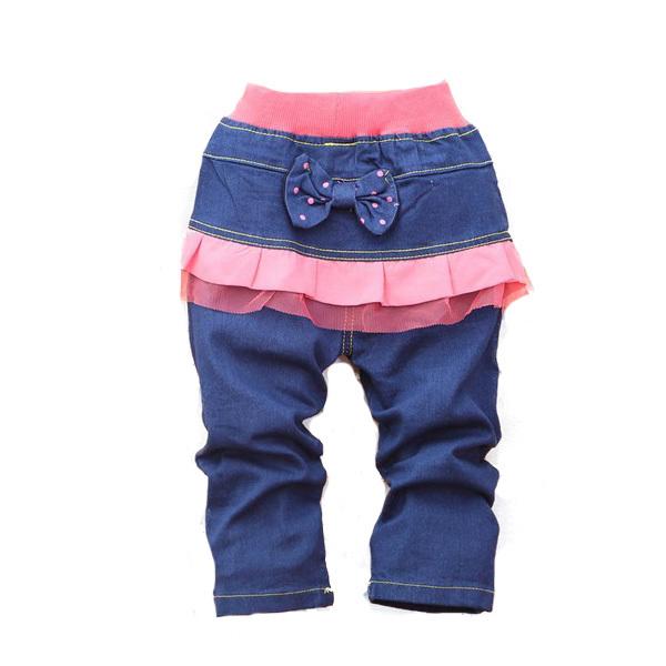 2015 года Осень младенца девочек брюки моды брюки мягкой джинсы брюки b018