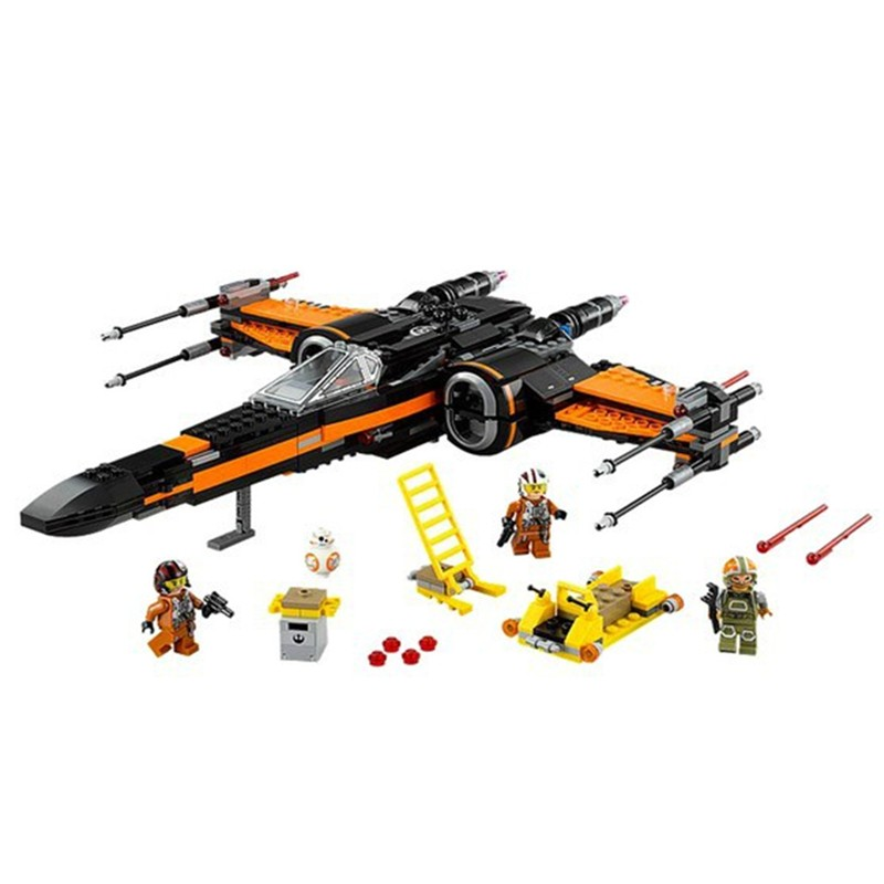 748pcs 2016 High Quality Star Wars First Order Poes X-wing Fighter Assembled Toy Building Blocks Compatible With LEGO<br><br>Aliexpress