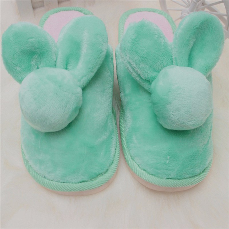 2016 New Winter Women Anti-slip Indoor Home Shoes Fashion Rabbit Soft Warm Cotton House Slippers Casual Slipper Shoes