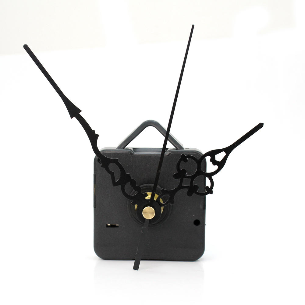 Fashion Design Simple Black DIY Quartz Wall Clock Movement Mechanism Parts Kit Repair Tool Work With Black Hands(China (Mainland))