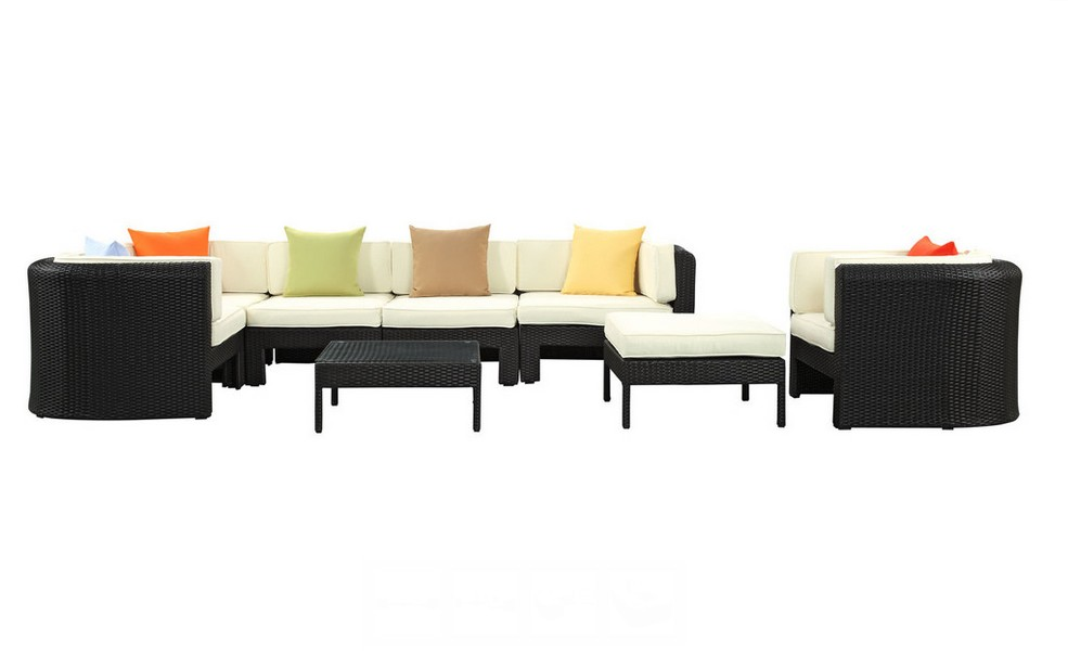 2016 outdoor rattan furniture L shape small arabic modern metal sofa set(China (Mainland))