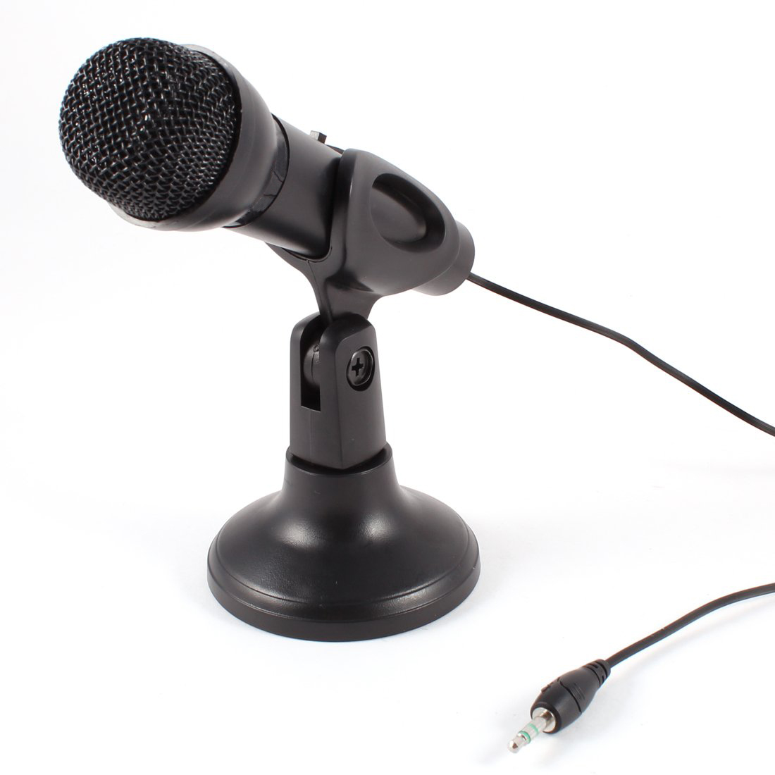 2x Omnidirectional Laptop PC Computer 3.5mm Network Stand Mini Microphone Mike Black(China (Mainland))