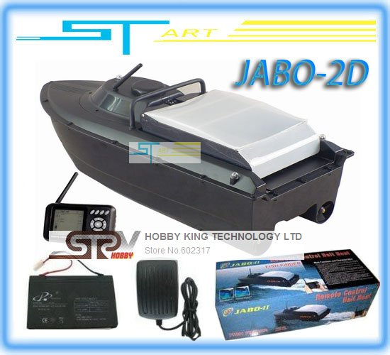 Newest remote control rc Bait Boat JABO-2D With Fish Finder & Backward turning & Spot turning  RTR jabo 2d Free Shipping Hot