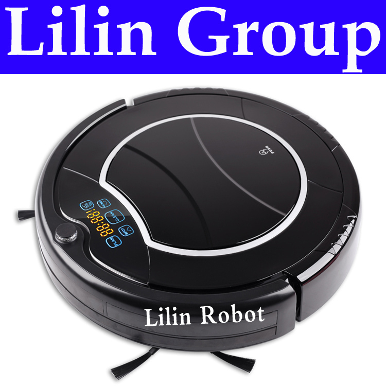(Free to Russia) Robot Vacuum Cleaner, Two Side Brushes,LED Touch Screen.with Tone,HEPA Filter,Schedule,Virtual Wall,Self Charge(China (Mainland))