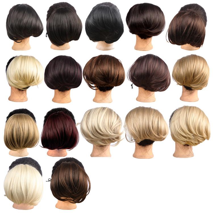 VIP LINK 200Pcs/Lot Synthetic Hair Women Clip in Big Hair Bun Hairpiece Hair Extension For Bride Headwear 17 Colors WQ941G<br><br>Aliexpress