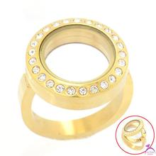 Buy Fashion Mixed Size 6-10 Women Ring,20mm Gold 316l Stainless Steel Round Crystal Magnetic Floating Locket Rings R5 for $52.50 in AliExpress store