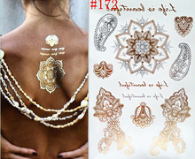 body art DIY glitter waterproof temporary tattoo flash stickers party gold tattoo sticker tatuagem temporaria women