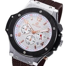 Luxury Brand Quartz Watches Men Silicone Strap 30M Water Resistant Calendar Chronometer Small Dial Work Quarzarmbanduhr
