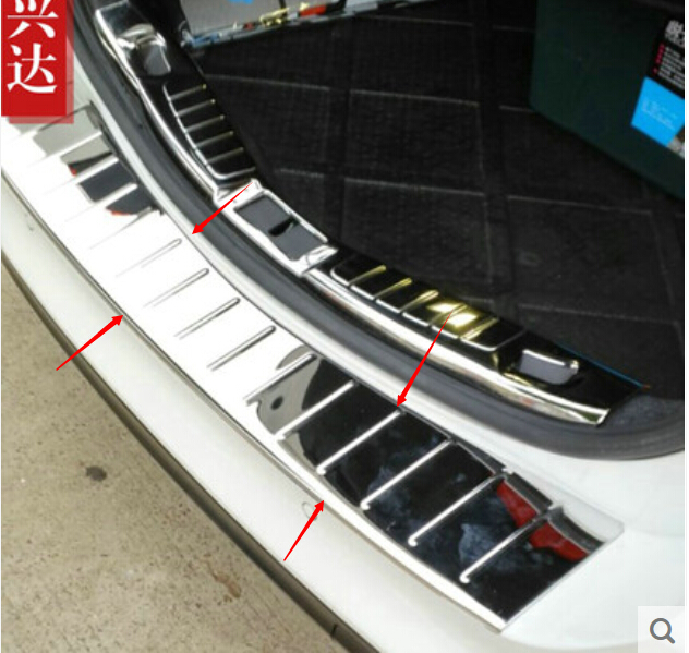 Outer Rear Bumper Protector Guard Plate Stainless Steel For Ford Fusion/ Mondeo 2013-2015(China (Mainland))