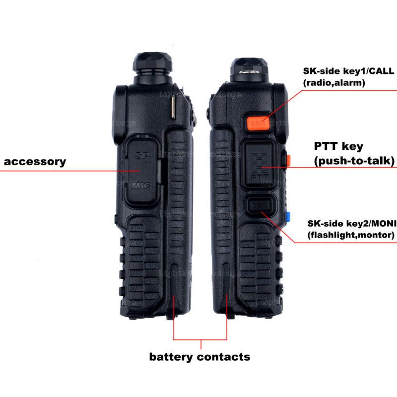 BaoFeng UV-5R Walkie Talkie Black CB Two Way Radios VHFUHF 136-174 400-520MHz Dual Band Amateur Handheld UV 5r Portable Radio (13)