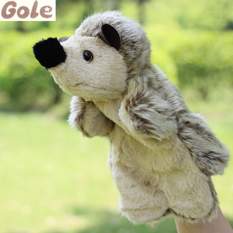 Brinquedo Infantil Menina Menino Plush Dolls Hedgehog Hand Puppets For Kids Kid Funny Stories Infant Educational Games Oyuncak(China (Mainland))