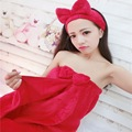 New Coral Velvet Sexy Nightdress Underwear Ladies Winter Flannel Pajamas Sweet Strapless Gown Bath Robe Two