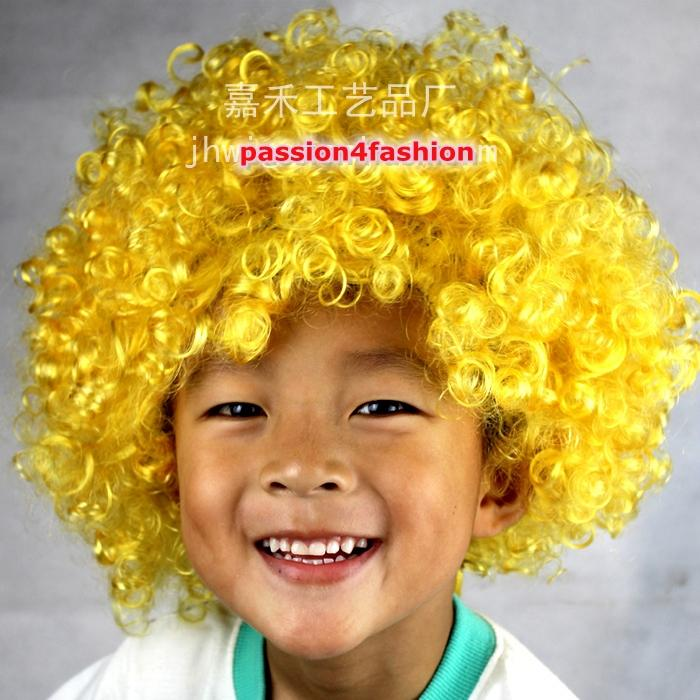 Afro Wig Curly Hair 120g Clown Fancy Dress Bob Cosplay Masquerade Costume Kids Circus Funky 70s(China (Mainland))