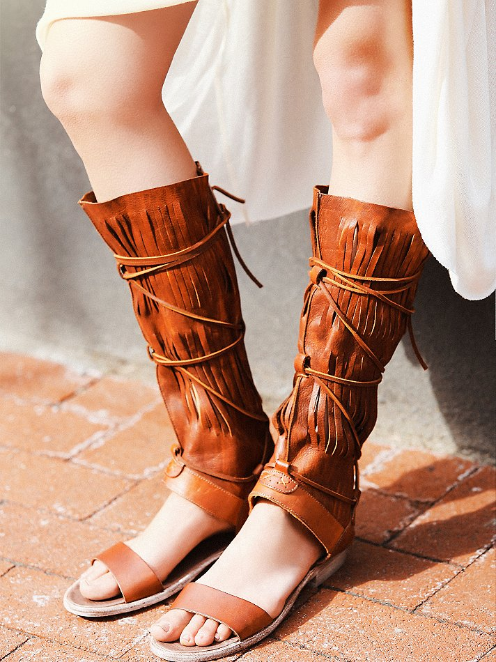 2016 fashion summer shoes flats knee high boots