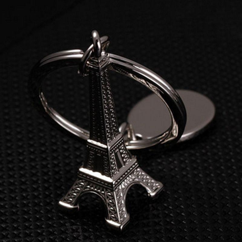 4pcs Paris Eiffel Tower Keychain Bag Purse Ornament Key Ring Keyfob Accessory
