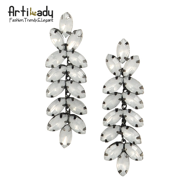 Artilady  noble wheat ear full crystal drop earrings 2015 fashion luxury ear pins  women earring jewelry