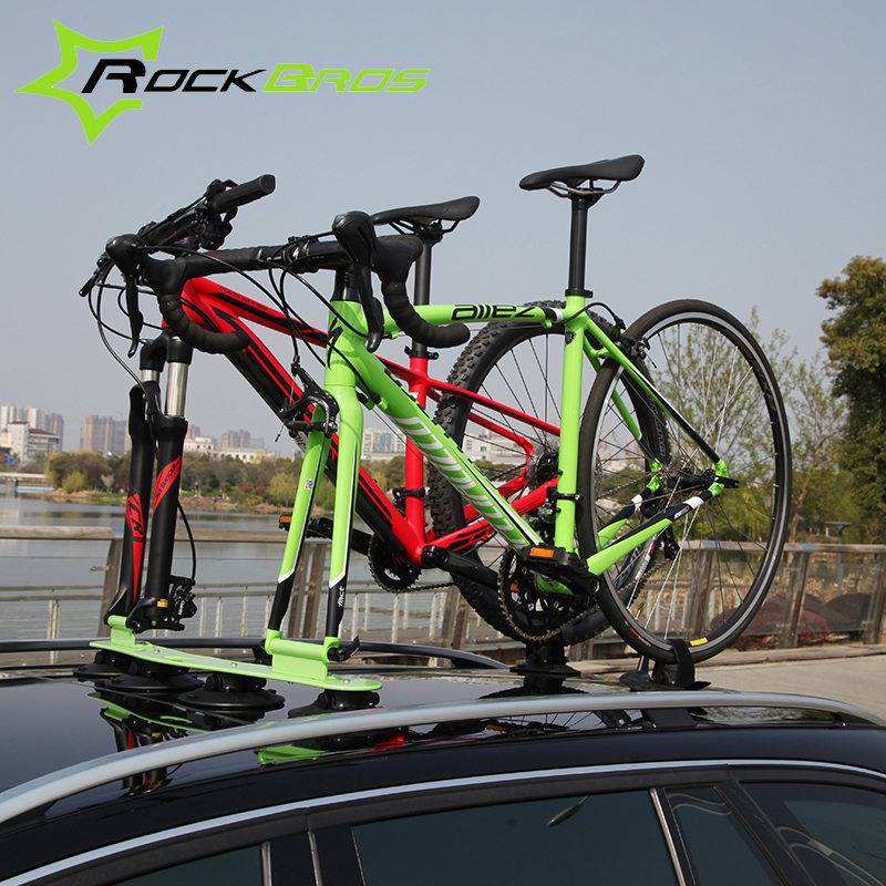 ROCKBROS Treefrog Sustion Cup Roof Rack For Two Bike Jeep&SUV Sucker Talon Bike Rack Maximum Load 30KG Luggage Carrier,9 Colors(China (Mainland))
