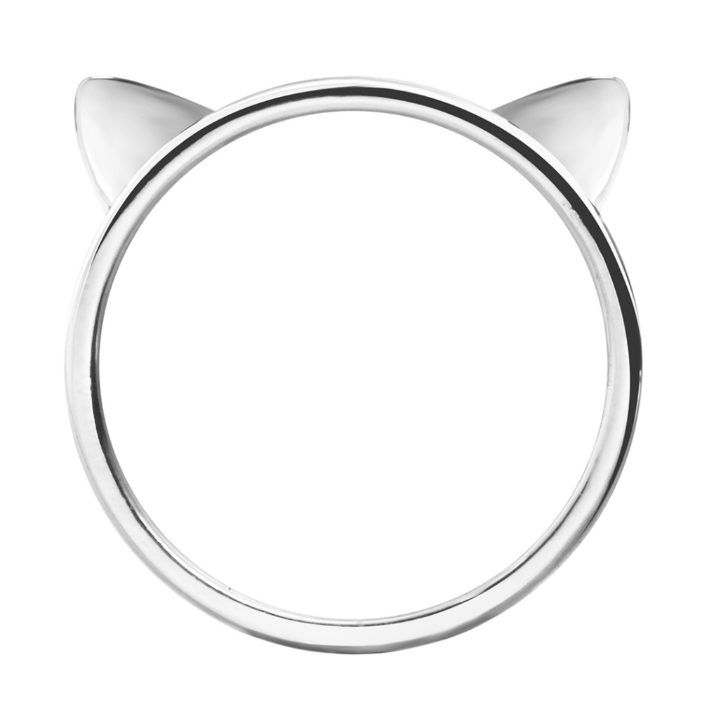 Kinitial 1Pcs Gold Silver Plated Cute Cat Kitty Ring for Women Handmade Jewelry Design Finger Rings for Women Aneis Jewelry(China (Mainland))