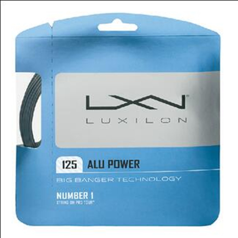 free Shipping Famous Brand Luxilon Alu Power High Quality Professional Tennis Racquet String 12.2m,printing Same To The Original(China (Mainland))