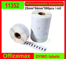 1 x Roll Compatible Dymo Labels 11352 Dymo 11352 return address label 54mm*25mm*500 Labels Per Roll for labelwriter Turbo